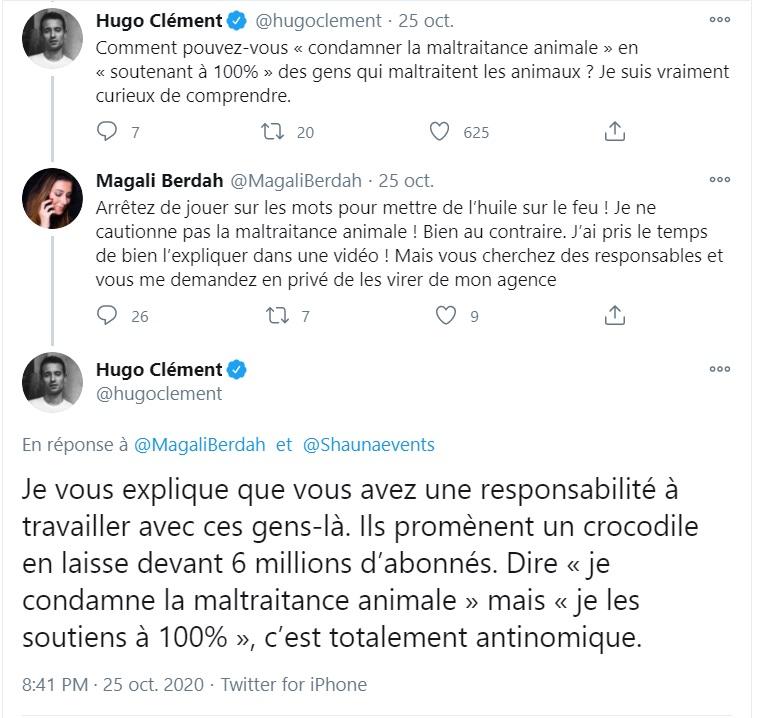 Hugo Clément : Après son coup de gueule contre Manon et Julien Tanti, Magali Berdah lui envoie une mise en demeure !