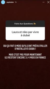 Nikola Lozina et Laura Lempika vont-ils eux aussi emménager à Dubaï ? Aqababe répond
