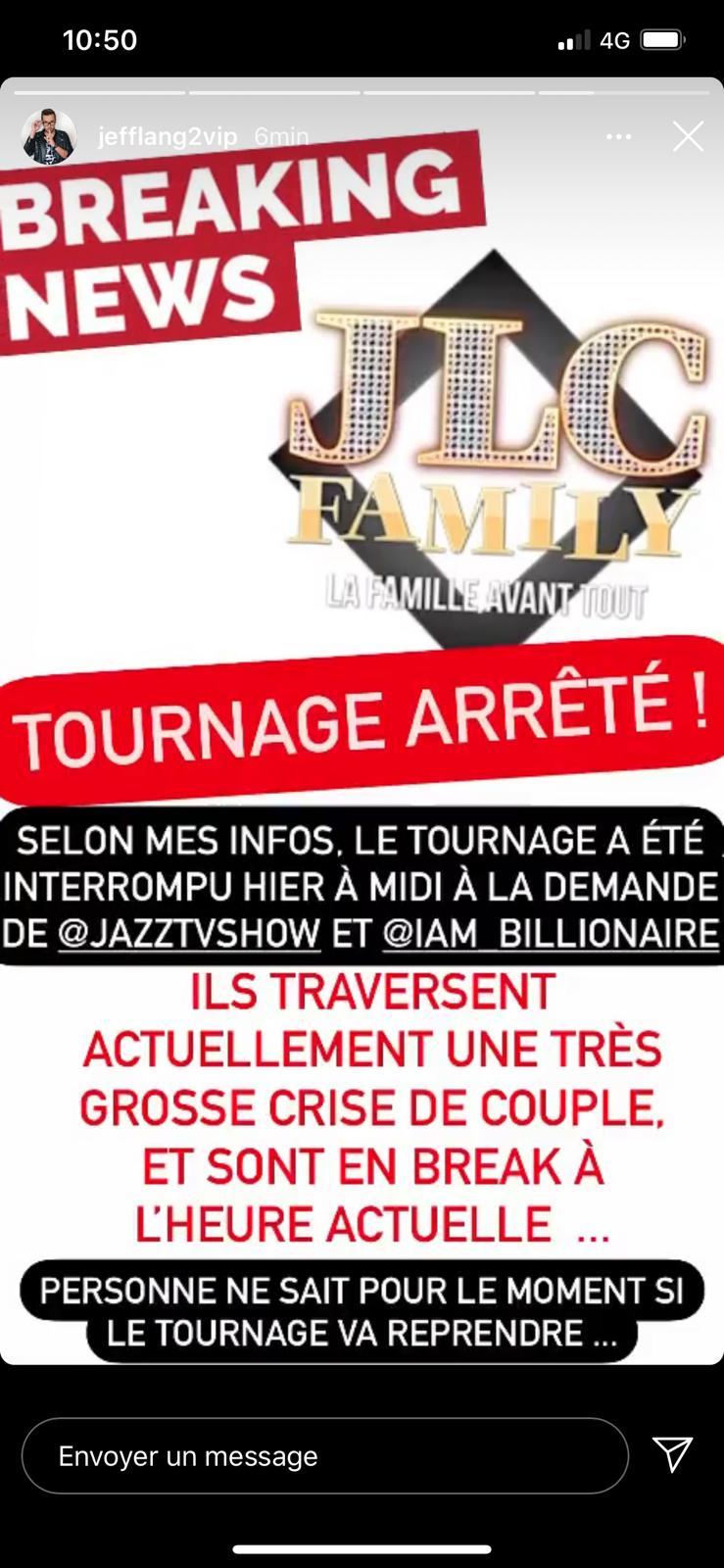 JLC Family : Tensions entre Laurent et Jazz Correia... Le tournage interrompu ?