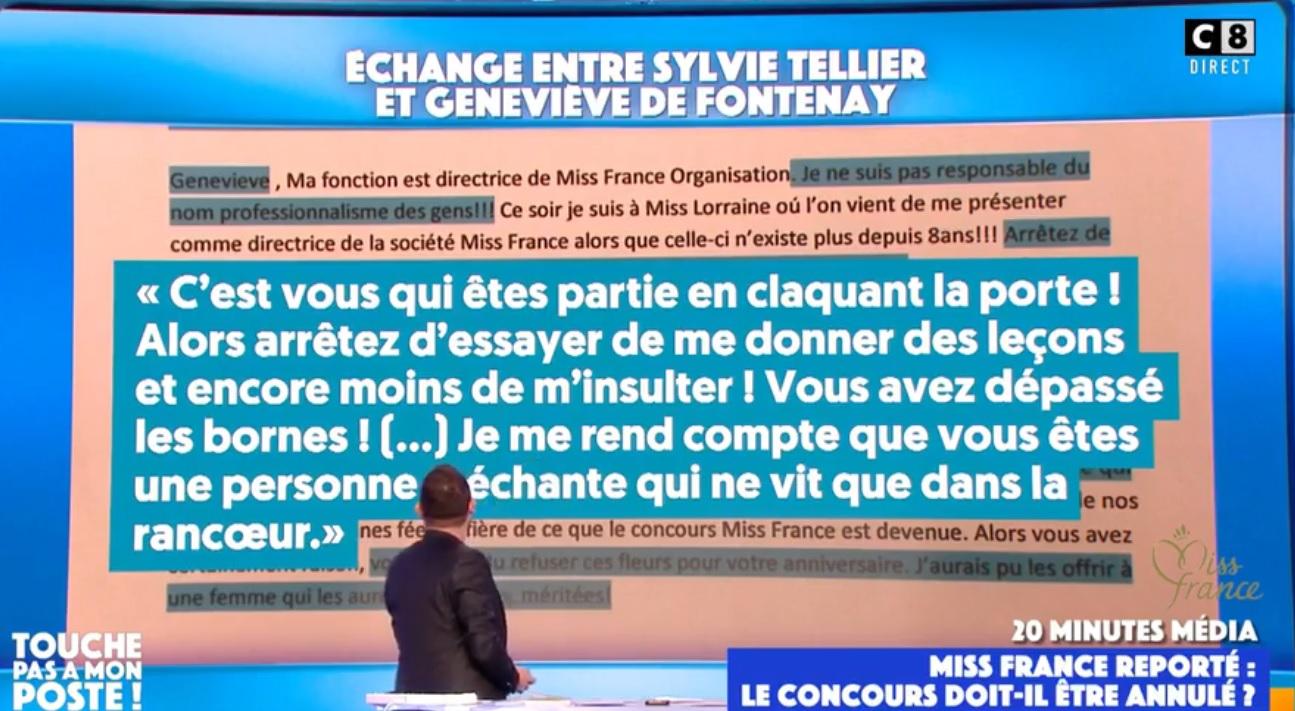 """TPMP : Geneviève de Fontenay clashée par Sylvie Tellier ? """"Vous êtes une personne méchante qui ne vit que dans la rancoeur"""""""
