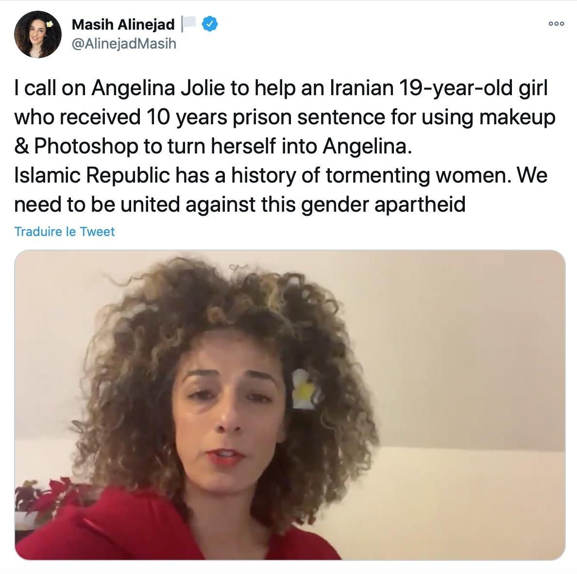 Iran : Le sosie zombie d'Angelina Jolie, Sahar Tabar, condamnée à 10 ans de prison