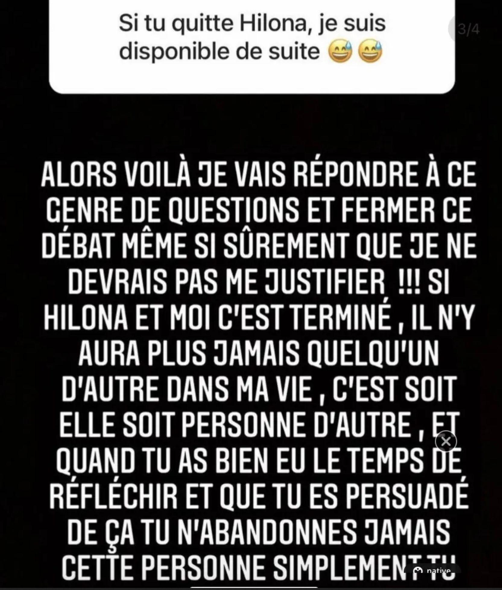 Julien Bert séparé d'Hilona Gos et dragué par une fan : sa belle déclaration à sa fiancée
