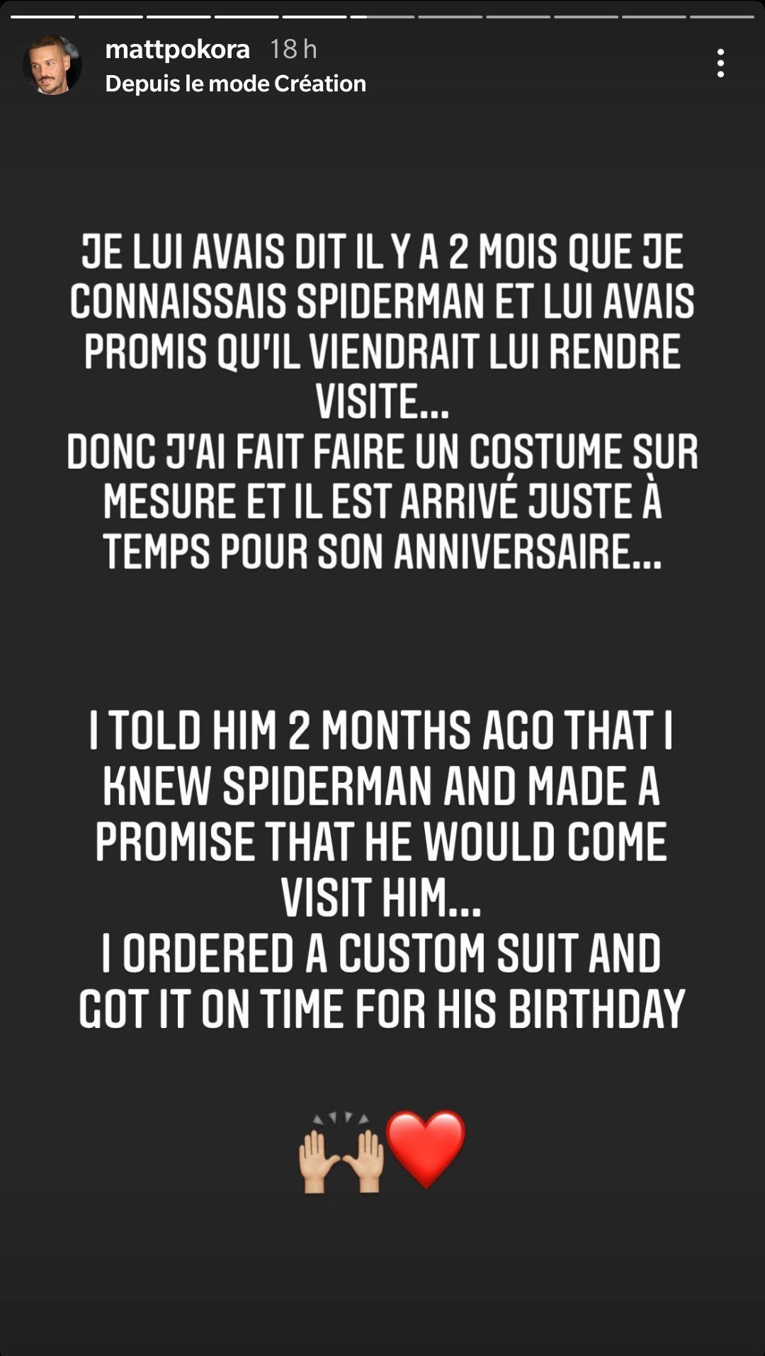 Matt Pokora de nouveau en Spiderman : Cette belle occasion pour laquelle il se déguise en super-héros