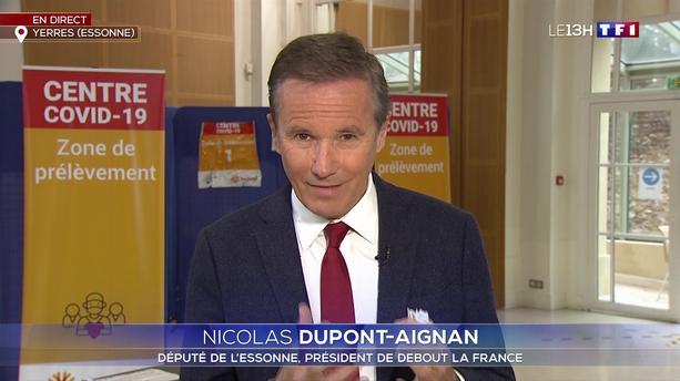 """TPMP : Pour Nicolas Dupont-Aignan, les personnes vaccinées contre le Covid-19 sont des """"cobayes"""""""