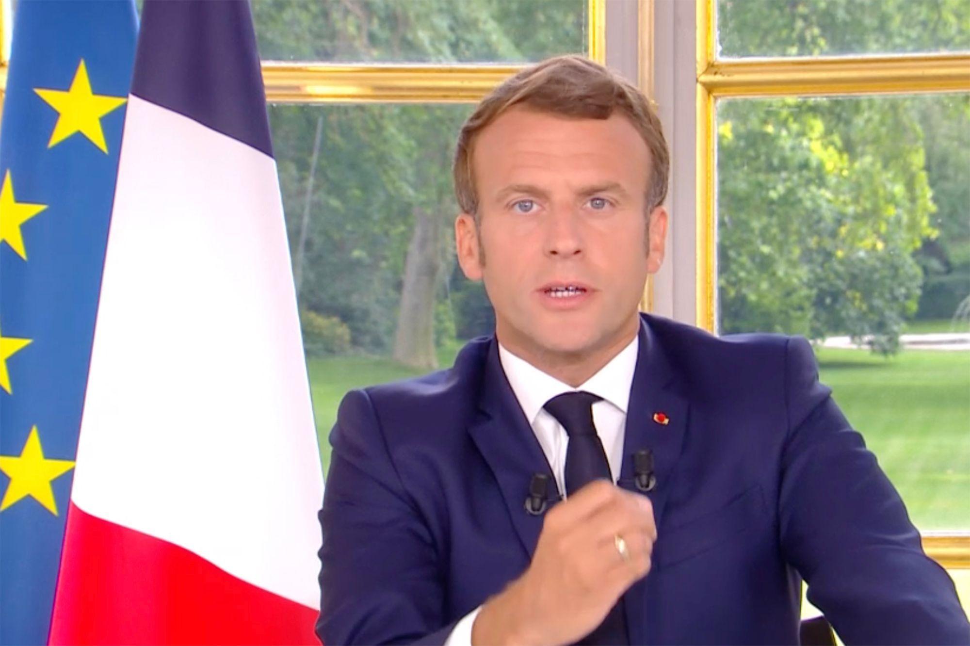 Emmanuel Macron @DR