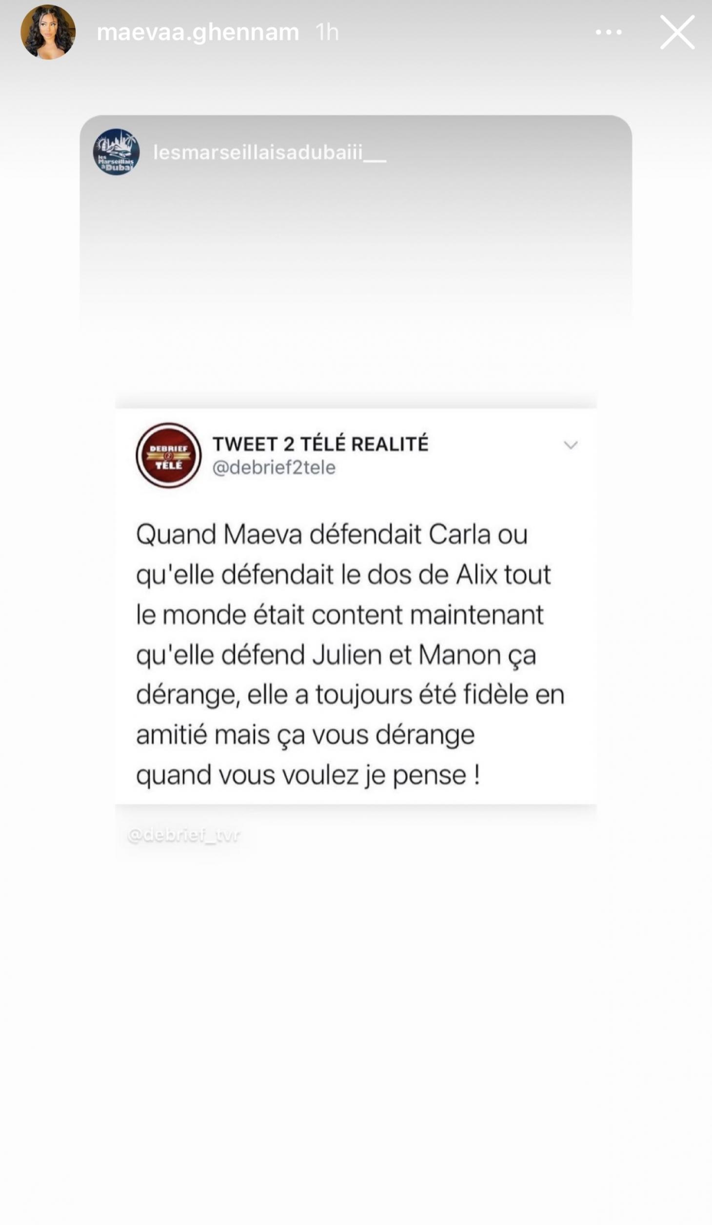 Maeva Ghennam défend Julien Tanti, les internautes la critiquent, elle répond!