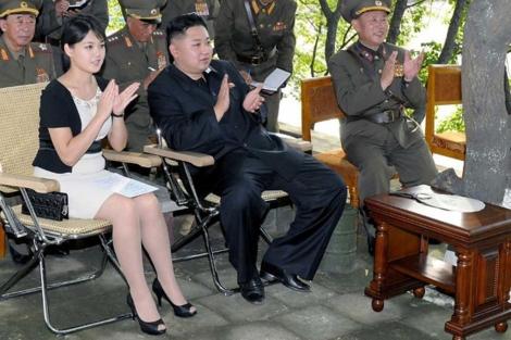 Ri Sol-ju et Kim Jong-un
