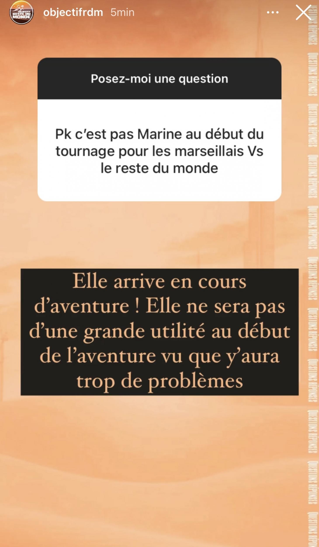 Les Marseillais vs Le Reste du monde 6: Marine El Himer évincée de la ligne de départ