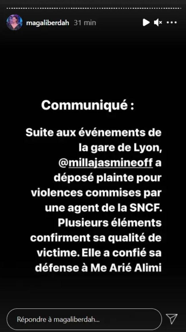 Milla Jasmine placée en garde à vue : Elle sort du silence et porte plainte contre la SNCF