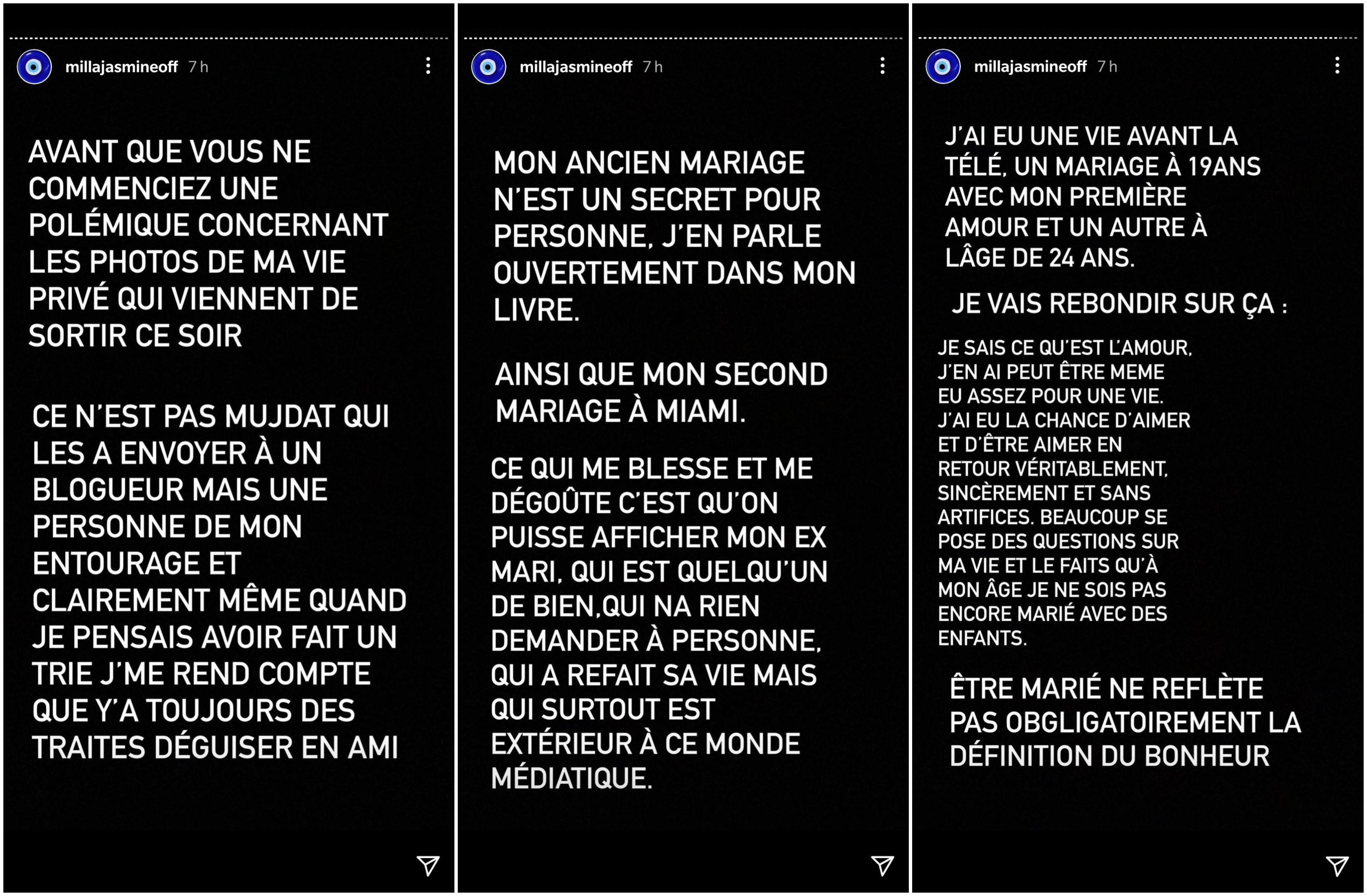 Milla Jasmine trahie par Mujdat ? Des photos de son premier mariage fuitent, elle prend la parole !