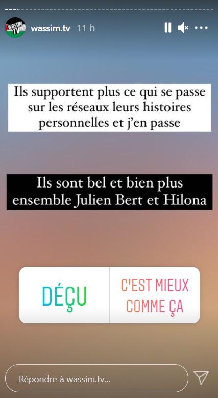 ORDM : Julien Bert et Hilona Gos à nouveau séparés ?