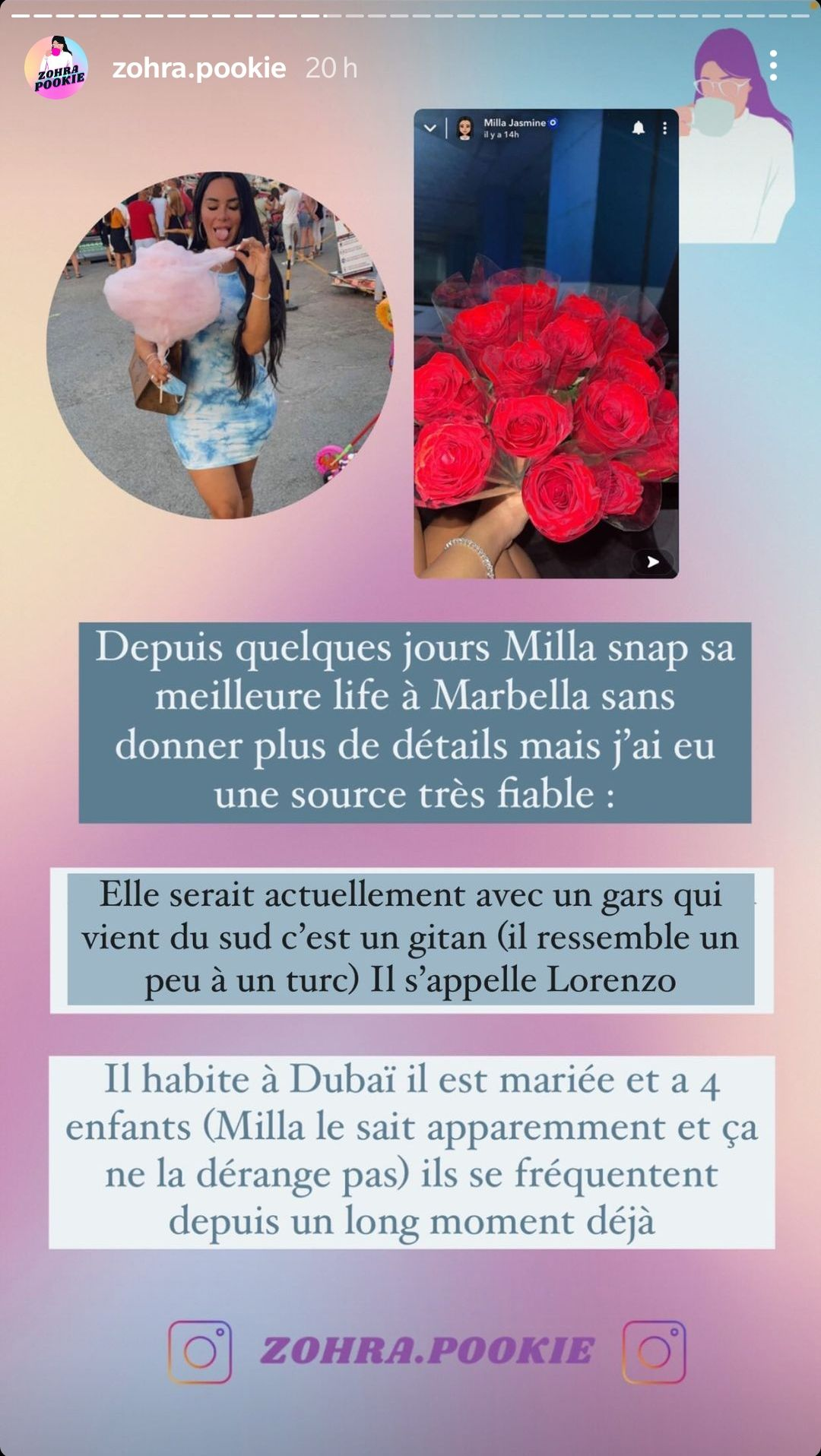 Milla Jasmine en couple avec un père de famille marié ? La rumeur enfle !