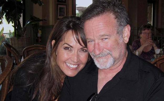 Susan Schneider et Robin Williams