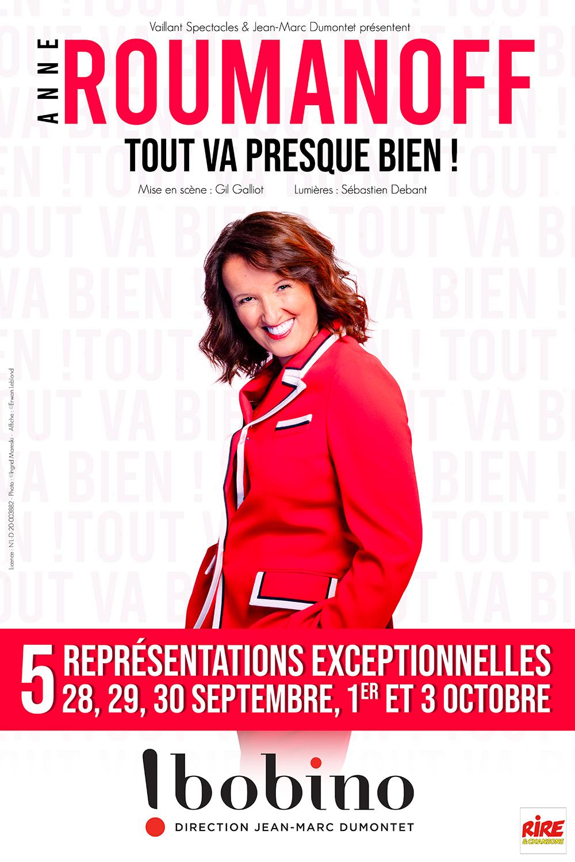 """Anne Roumanoff de retour sur scène : Hilarante dans son nouveau spectacle """"Tout va presque bien !"""""""