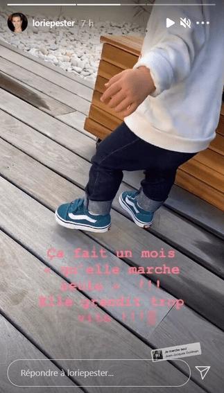 Lorie Pester : Premiers pas pour sa fille Nina