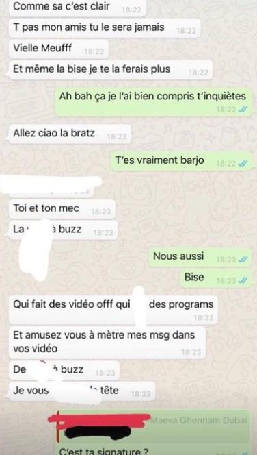 Maeva Ghennam clash violemment Victoria Mehault sur Whatsapp : la Marseillaise publie les SMS sur Insta