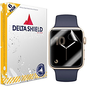 Full Coverage Screen Protector for Apple Watch Military-Grade Clear HD Anti-Bubble Film