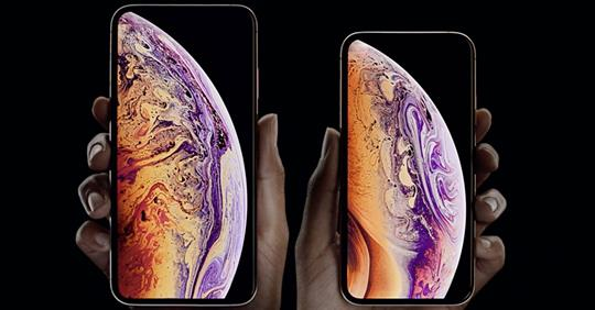 The Apple iPhone Xs And iPhone Xs Max.APPLE