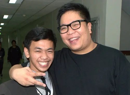 Jhaypee with It's Showtime host Jugs Jugueta