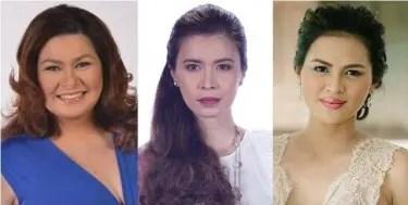 Aiko Melendez, Sunshine Cruz and Lara Quigaman