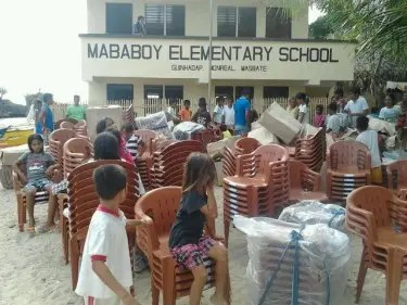 With enough help from everyone, the dream school of 'batang langoy' kids was finally built last March 2013