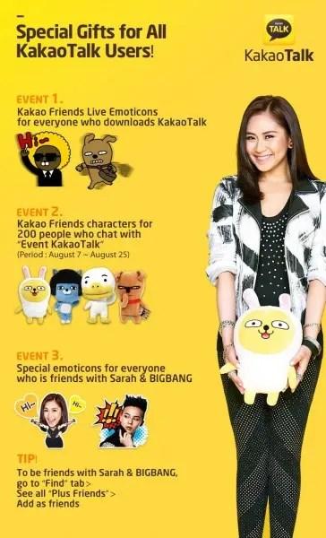 Sarah Kakao Emoticons