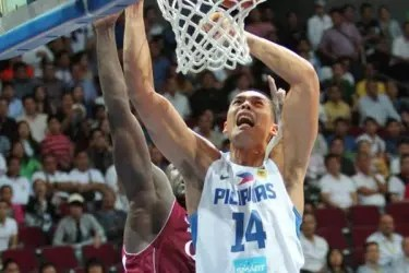 Japeth Aguilar as he dunks during the Tuesday game against Qatar. Gilas Pilipinas won 80-70. Tonight, the Philippine national men's Basketball team is battling against Iran for the 2013 FIBA Asia Championship Title. ~ Photo Credit: FIBA Asia/Nuki Sabio