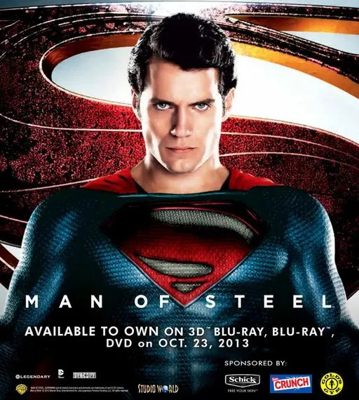 'Man of Steel' Arrives onto Blu-Ray 3D, Blu-Ray and DVD ...