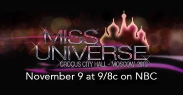 Miss Universe 2013 coronation night will be held Saturday night in Moscow.