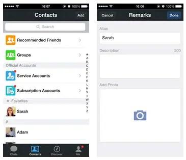 Contact List Customization