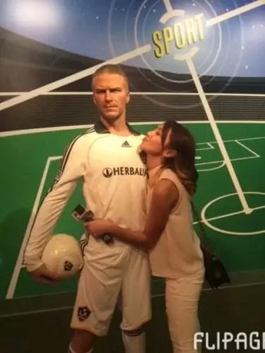 Kath with David Beckham