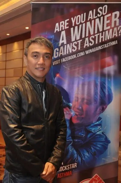 Arnel Pineda Win Against Asthma Amabassador