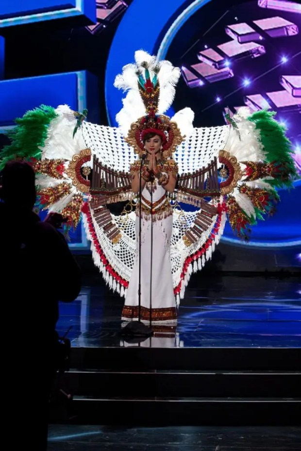 Jeimmy Tahiz Aburto, Miss Guatemala 2015 debuts her National Costume on stage at Planet Hollywood Resort & Casino Wednesday, December 16, 2015. The 2015 Miss Universe contestants are touring, filming, rehearsing and preparing to compete for the DIC Crown in Las Vegas. Tune in to the FOX telecast at 7:00 PM ET live/PT tape-delayed on Sunday, Dec. 20, from Planet Hollywood Resort & Casino in Las Vegas to see who will become Miss Universe 2015. HO/The Miss Universe Organization