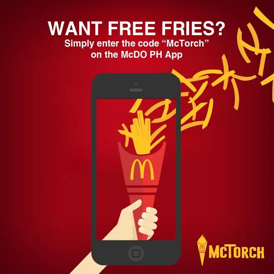 Pass the McTorch and Get the World Famous Fries for FREE on Your