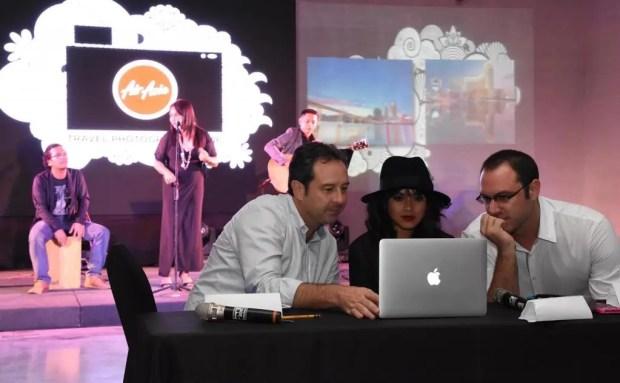 The AirAsia Travel Photographer panel of judges deliberating the results. (From left: Nachi Ugarte, Wawi Navarrosa, Jacob Maentz)