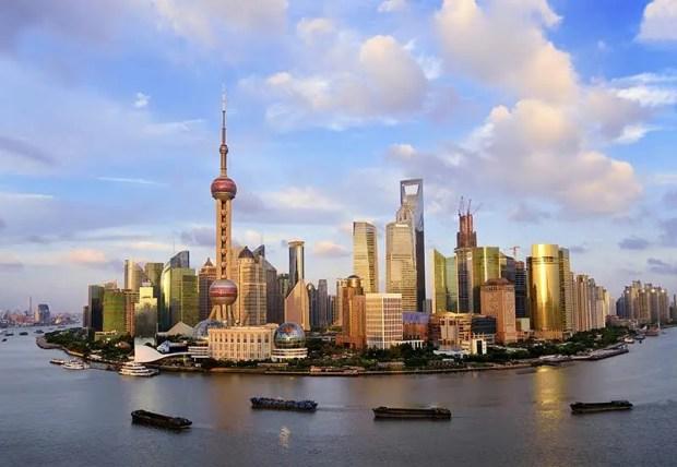 Shanghai's skyline by day.