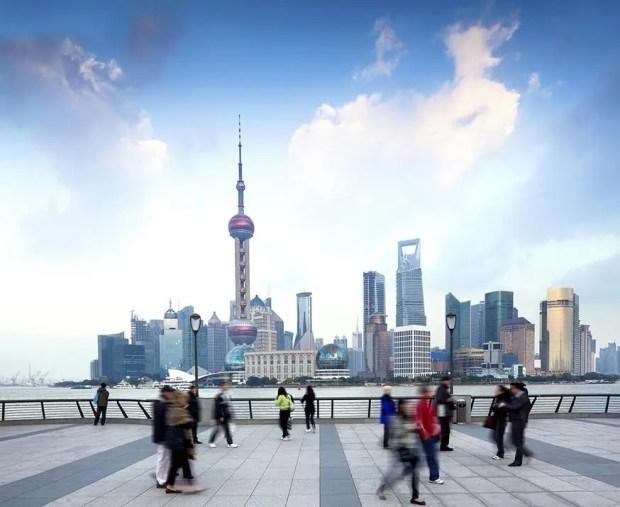 The Bund in Central Shanghai