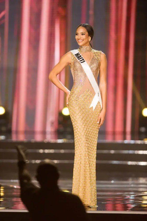 Raquel Pelissier, Miss Haiti 2016 competes on stage in her evening gown during the 65th MISS UNIVERSE® Preliminary Competition at the Mall of Asia Arena on Thursday, January 25, 2017.  The contestants have been touring, filming, rehearsing and preparing to compete for the Miss Universe crown in the Philippines.  Tune in to the FOX telecast at 7:00 PM ET live/PT tape-delayed on Sunday, January 29, live from the Philippines to see who will become Miss Universe. HO/The Miss Universe Organization