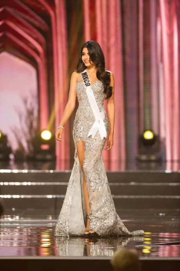 Kristal Silva, Miss Mexico 2016 competes on stage in her evening gown during the 65th MISS UNIVERSE® Preliminary Competition at the Mall of Asia Arena on Thursday, January 25, 2017.  The contestants have been touring, filming, rehearsing and preparing to compete for the Miss Universe crown in the Philippines.  Tune in to the FOX telecast at 7:00 PM ET live/PT tape-delayed on Sunday, January 29, live from the Philippines to see who will become Miss Universe. HO/The Miss Universe Organization