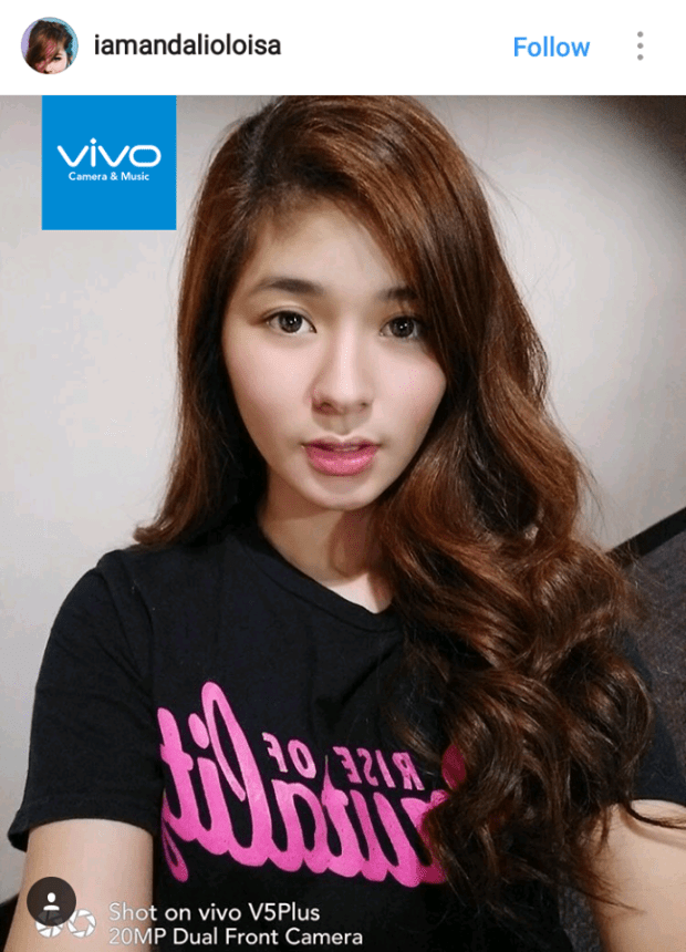 Loisa Andalio of My Hair Lady says she loves the bokeh effect of the Vivo V5 Plus perfect selfie phone.