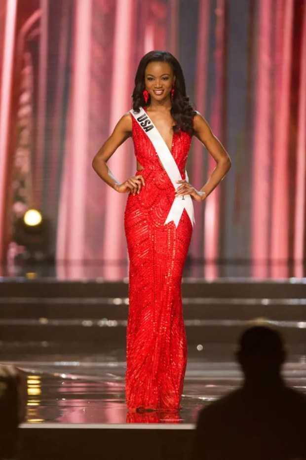 Deshauna Barber, Miss USA 2016 competes on stage in her evening gown during the 65th MISS UNIVERSE® Preliminary Competition at the Mall of Asia Arena on Thursday, January 25, 2017.  The contestants have been touring, filming, rehearsing and preparing to compete for the Miss Universe crown in the Philippines.  Tune in to the FOX telecast at 7:00 PM ET live/PT tape-delayed on Sunday, January 29, live from the Philippines to see who will become Miss Universe. HO/The Miss Universe Organization