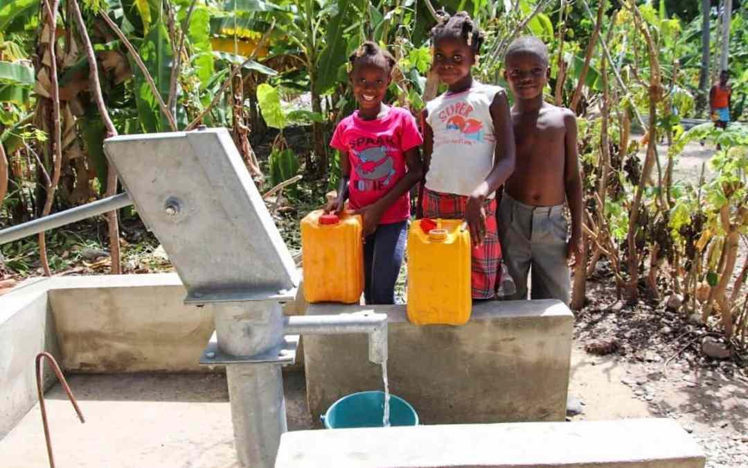 Två nya brunnar i Haiti