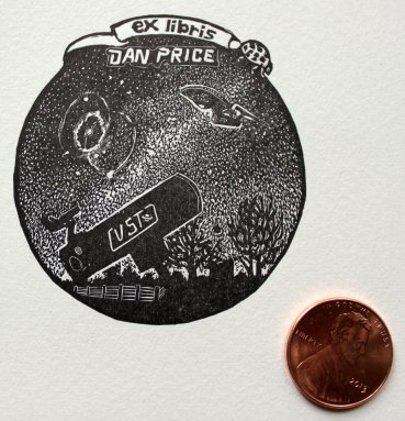 Custom bookplate for amateur astronomer