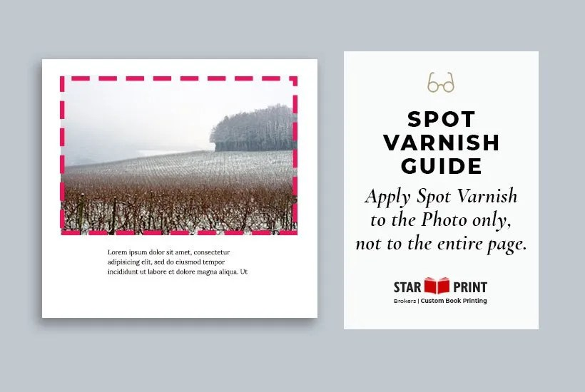 Complete instructions on how to make a spot varnish file in InDesign.