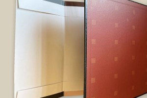 French fold dust jacket has of folded edge on the top and bottom. It is optional and costs more than a standard dust jacket.