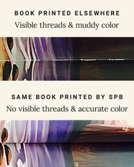 No book binding threads showing in our books.