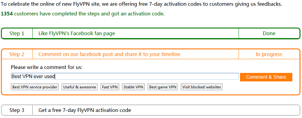 Flyvpn free activation code free