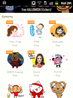 New Free Stickers in KakaoTalk Item Store
