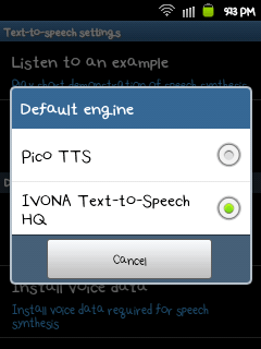 Ivona Text-to-Speech HQ