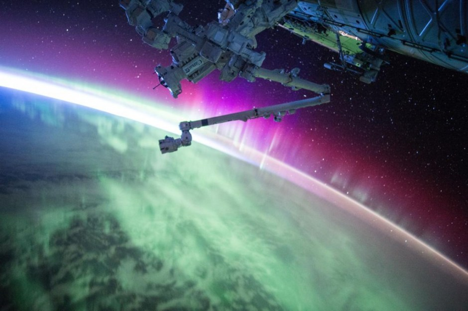 Aurora from ISS_SKelly